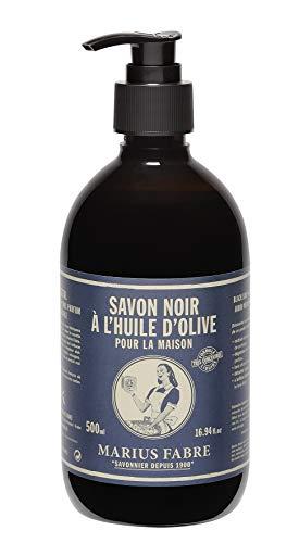 Marius Fabre Savon noir liquide à l'olive – Savon liquide noir à l'huile d'olive – 500 ml