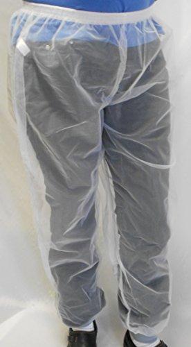Bug Baffler Insect Protective Mesh Pants, White, Child 7-10