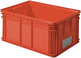 Ssi Schaefer Solid Wall Stacking Cntner 26x19x12 Red