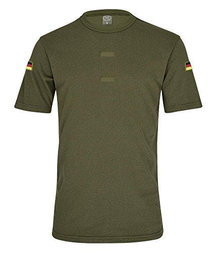 Olives BW Tropen Shirt Bundeswehr Klett Unterhemd Hoheitsabzeichen Deutschland Patch Flagge Verein Gruppe #20605, Größe:M Herren, Farbe:Oliv