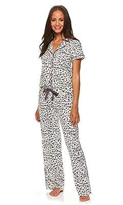 bebe Womens Button Down Shirt and Pajama Pants Lounge Sleep Set Light Pink Medium