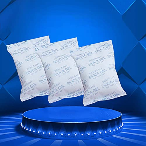 3 confezioni x500g,silice gel bustine Desiccant,di Gel di Silice Essiccante Umidità Assorbitore,Moisture Absorber Silica Gel Desiccant Packets for Storage,riutilizzabile,con indicazione del colore