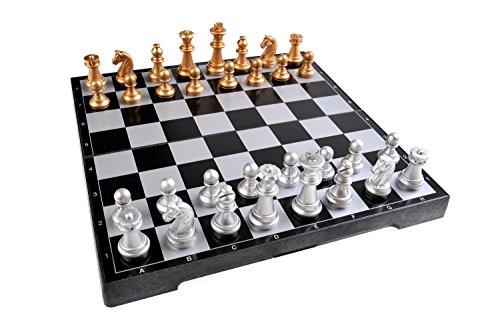 Quantum Abacus Magnetisches Brettspiel (Premium Größe): Schach - magnetische Spielsteine, Spielbrett zusammenklappbar, 25cm x 25cm x 2cm, Mod. SC2610-A (DE)
