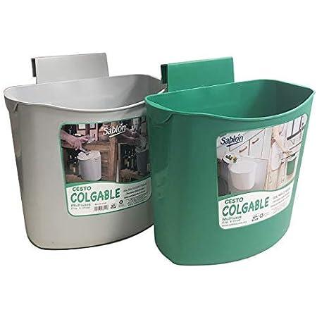YUKE Cubos de Basura Plegable Bote de Basura Colgante Basurero Plegable Basura Extraible para la Cocina 9L Dormitorio y Coche