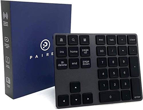 Bluetooth Number Pad – Wireless Numeric Keypad – Functional Shortcut Keys – Widely Compatible – Ergonomic and User-Friendly Design – Sturdy Aluminum Alloy – Ultra-Slim 34-Key Pad