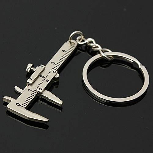 HXYKLM Creative Vernier Kaliper Sleutelhanger Voor Man Vrouw Sieraden Accessoires Draagbare Gadget ZILVER