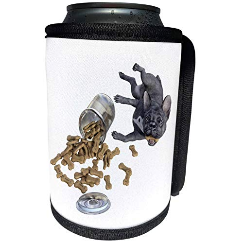 3dRose Boehm Graphics Dog - Bad Dog Cookie Jar Frenchie Bulldog - Can Cooler Bottle Wrap (cc_293973_1)