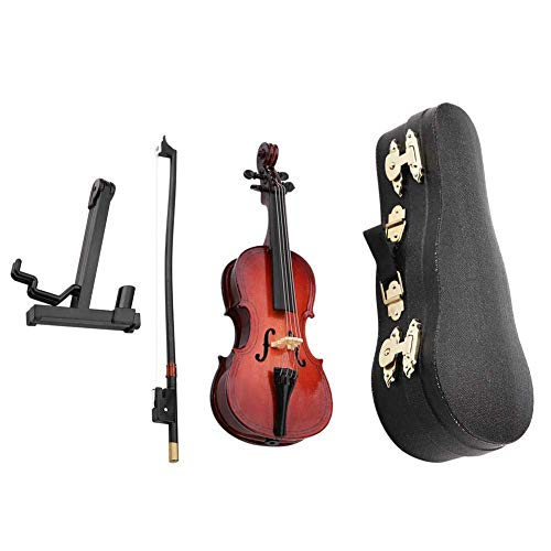 Réplica de violonchelo en miniatura de 5.5in con estuche Modelo de instrumento Regalos musicales Adornos Instrumentos