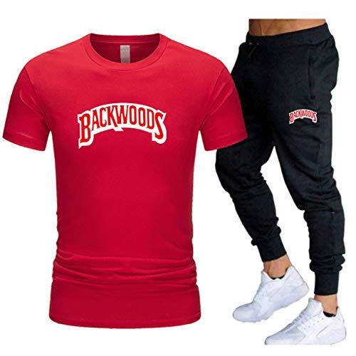 GIRLXV Backwoods Traje De Impresión De Camiseta Camiseta De Hombre Pantalones Casuales Camiseta De Golf Absorbente Traje Superior Deportivo XXL