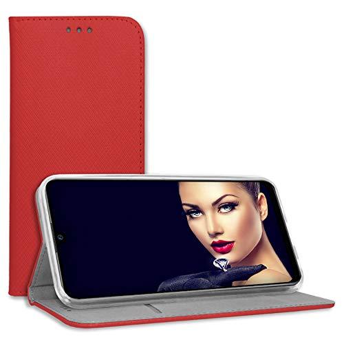 mtb more energy® Schutz-Tasche Bookstyle für LG K4 2017 (M160), LG K8 2017 (M200N, 5.0'') - rot - Kunstleder - Klapp-Cover Hülle Wallet Hülle