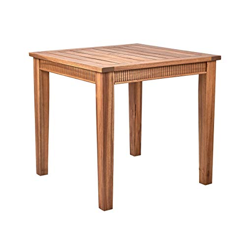 Butlers Acacia Springs Tisch 80x80 in Braun - Holztisch aus FSC-Akazienholz - Massiver Gartentisch, Kaffeetisch, Balkon
