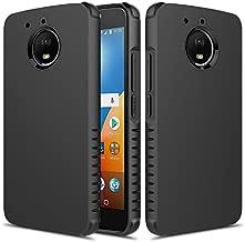 Townshop Moto E4 Plus Case, Heavy Duty Dual Layer Shockproof Bumper Case for Motorola Moto E4 Plus - Black