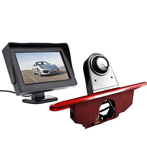 【HD Rückfahrkamera Kit】 4.3 Zoll TFT LCD Bildschirm Auto Monitor + im 3.Bremslicht Bremsleuchte Rückfahrkamera Transportster für Peugeot Expert/FIAT Scudo/Citroen Jumper/ 2007-2016
