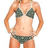 ATOMO Geométrico Artístico Flor Mujeres Bikinis Traje De Baño Bikini Set Natación
