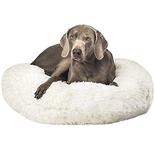 Reeseiy Cama De Perro De Piel Sintética para Chic Labrador Golden Retriever Perro Pastor Alemán Accesorios para Mascotas Cómodo Y Elegante Producto Diario (Color : Blanco, One Size : 100cm)