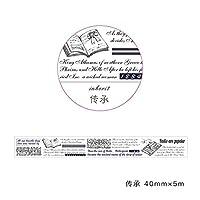 ヴィンテージ英語文字和紙テープDIY装飾マスキングテープラベルステッカー文房具