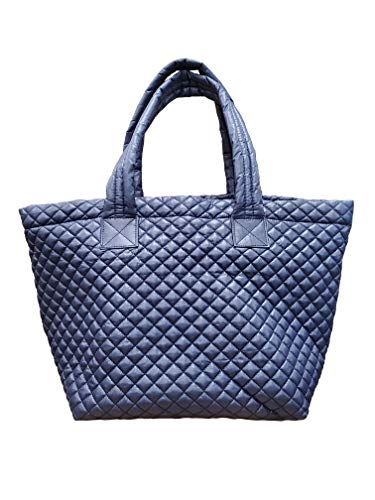 ClaraNY Bequeme, leichte gesteppte Tragetasche mit Tasche, wasserabweisend, Marineblau