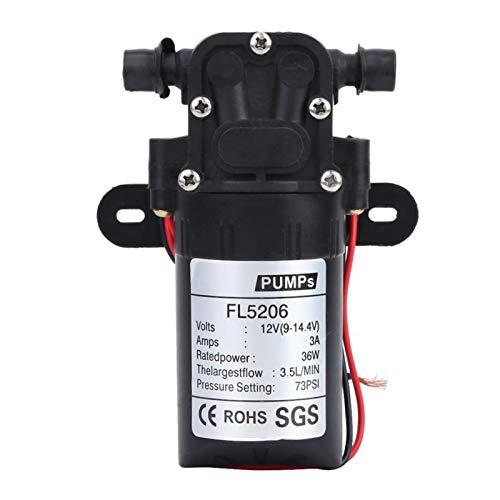 Alta calidad DC12V / 24V 36W Diafragma eléctrico Bomba de agua Interruptor automático 2-3.5L / Min Presión de alta presión Lavado agrícola Spray Bomba de agua para Caravana RV Barco Marina Agr
