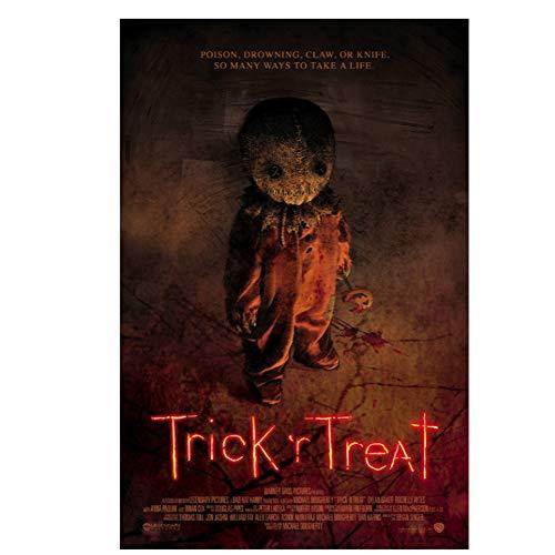 GIRDSS Trick R 'Treat Film Horror Sam Halloween Klassische Filmkunst Poster und Drucke Leinwand Malerei Dekor-50X70cm ohne Rahmen