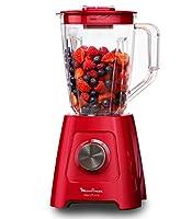 moulinex lm420510 - frullatore elettrico blendforce, capacità 2 l, per frullati, zuppe, frutta, verdura, ghiaccio tritato, 600 w, rosso