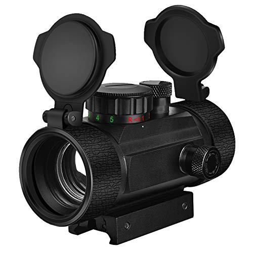 EZshoot Red Green Dot Sight Tactical Scope Reflex Sight with Lens Cap 20mm Rail Mount