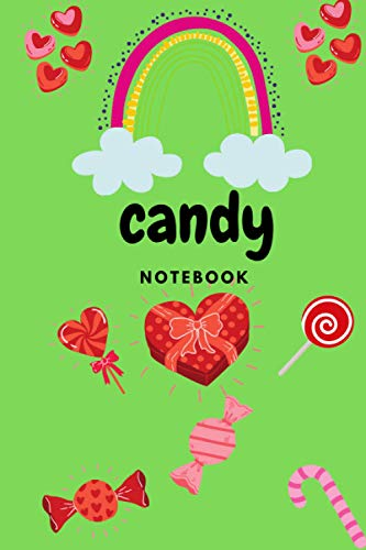 candy notebook: Cute wide Ruled Line Paper Notebook | Multipurpose School Workbook for Teens or Kids Students | Perfect size for your backpack | Unicorns and Candy pattern.