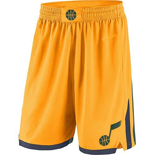DODE Pantalones cortos deportivos para hombre Utah Gold,Jazz 2019/20 Declaración Edición Swingman Baloncesto cortos para hombre