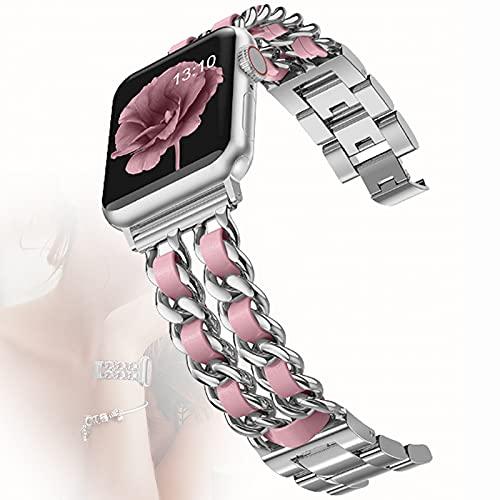 Correa de Reloj para Apple Watch Pulsera de Banda de Repuesto de Acero Inoxidable Correa de Pulsera Deportiva Ajustable para Iwatch Series 6 / SE / 5/4/3/2/1,42mm/44mm