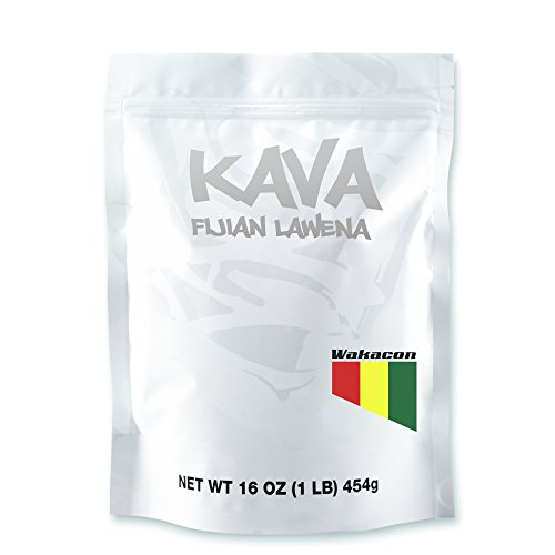 Wakacon KAVA LAWENA Powder - Fijian Noble Premium High Quality Kava Root (16oz)