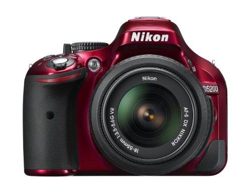 Nikon デジタル一眼レフカメラ D5200 レンズキット AF-S DX NIKKOR 18-55mm f 3.5-5.6G VR付属 レッド D5200LKRD