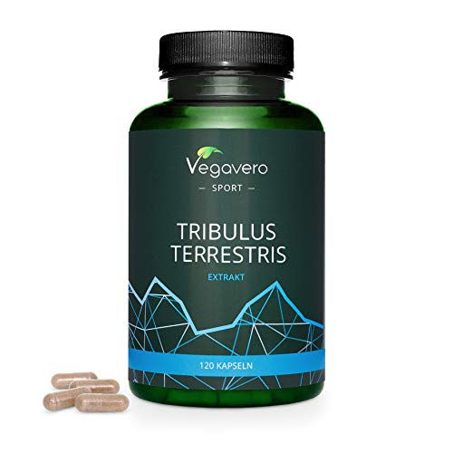 Tribulus Terrestris Vegavero | Highly Dosed: 1800mg per Day | NO Additives | 100% Vegan | with 90% Saponin Content | 120 Capsules | Stamina, Strength & Testosterone Support