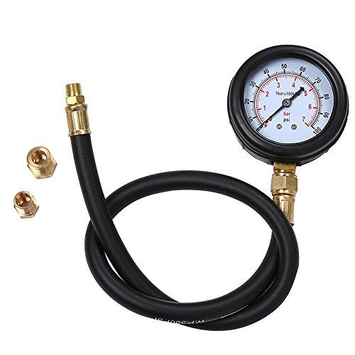 Detrade - Motore a gas multifunzione, cilindro di compressione, tester di pressione dell'olio motore, manometro
