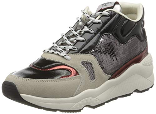Pepe Jeans London Damen Harlow Space Sneaker, 933GREY Marl, 36 EU