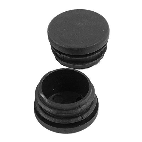 uxcell Lot de 6 à 32 mm en plastique noir et capuchon Embouts rond-Tube pour Tube