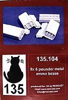 ■ レジキャスト 【希少】 1/35 6ポンド対戦車砲 メタル製弾薬箱セット