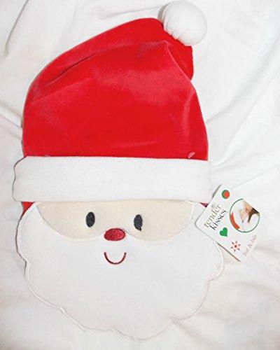 Baby's Soft Santa Claus Hat and Bib