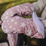 Guantes Carrito Bebé | Manoplas para cochecito o silla de paseo. Guantes manos calientes para invierno. (Estrellas rosa)