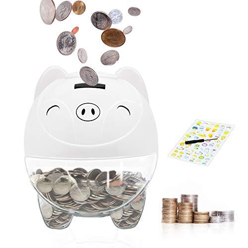 MOMMED Hucha Electronica, huchas Infantiles con Pantalla LCD, Hucha de Monedas de Euro de conteo automático, ahucha Contador Euros, limentada por 2 Pilas AA (no Incluidas)