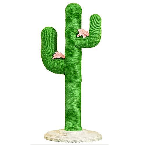 Kratzbaum Katzenkratzbaum Katzenbaum Grüner Kaktus-Katzenkratzer mit Blume - Moderner Kratzbaum für Kätzchen/kleine/mittlere Katzen - Home Wohnzimmer Schlafzimmer Dekor