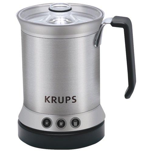 Krups XL2000 Automatischer Milchaufschäumer, Edelstahl-Milchaufschäumer (AC, 500 W, 3-teilig)