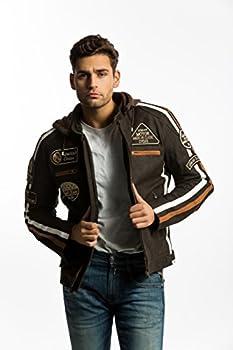 Urban Leather UR-30 58 Veste pour Homme, Marron, 3XL