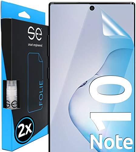 [2 Stück] 3D Schutzfolien kompatibel mit Samsung Galaxy Note 10, hüllenfre&liche durchsichtige HD Bildschirmschutz-Folie, Schutz vor Dreck & Kratzern, kein Schutzglas - smart Engineered