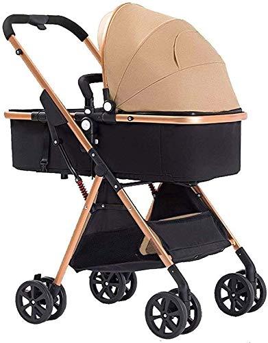 ZouYongKang Cochecito de bebé, 2 en 1 Cajas de cochecito convertible para cochecito, carro de visión alta antisphock plegable, con sillas de altura resistente a los golpes, espacio de almacenamiento g