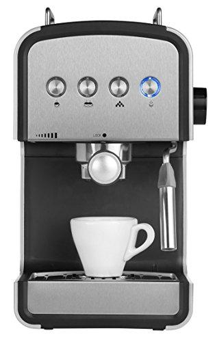 MEDION MD 17115 Espressomaschine (15 bar, Milchaufschäumer, Wassertankfassungsvermögen 1200 ml) edelstahl