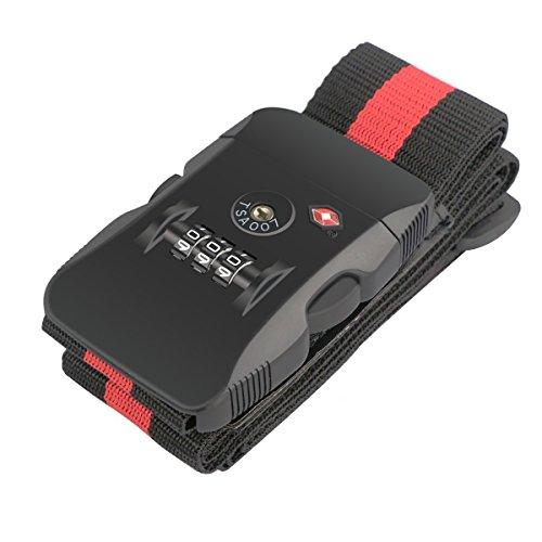 BlueBeach® Blocco di viaggio TSA bagagli Cinghia per Valigia bagagli sicurezza a 3 cifre Numero Combinazione Lucchetto