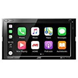 JVC KW-M75BT Compatible with Apple CarPlay, Android Auto 2-DIN AV Receiver (No CD Drive)