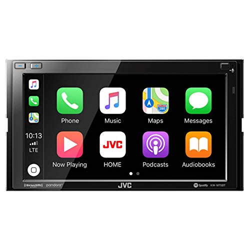 JVC KWM750BT Compatible with Apple Carplay Android Auto Car Multimedia Player - Double Din Car Stereo, 6.8 Inch LCD Touchscreen Monitor, Bluetooth
