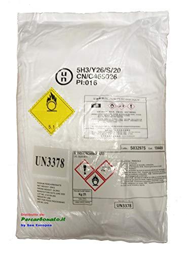 25 kg PERCARBONATO di Sodio Puro SBIANCANTE SMACCHIANTE IGIENIZZANTE- Meno di 3 Euro al kg