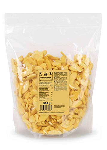 KoRo - Rodajas de melocotón liofilizado 500 g - Fruta deshidratada puramente vegetal y vegana