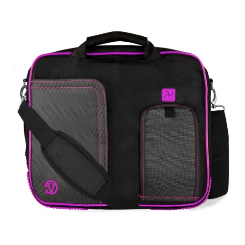 VanGoddy Plum Purple Messenger Bag Suitable for Lenovo Flex 4 1130 / Yoga 710 / IdeaPad 110s 120s / Tab4 10 Plus/ThinkPad X1 Tablet / N23 ChromeBook / 11.6inch